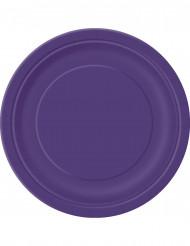 Suuret violetit kartonkilautaset 23 cm - 16 kpl