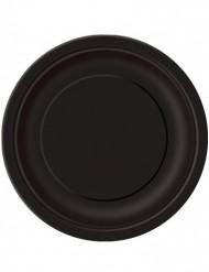 Mustat kartonkilautaset 22 cm - 16 kpl