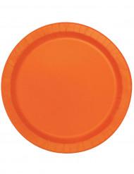 Oranssi pahvilautanen 16kpl 22cm