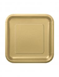 Kultainen pahvilautanen 16kpl