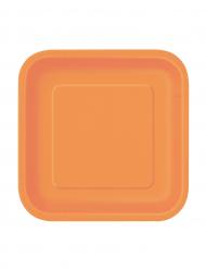 Oranssit pienet lautaset 16kpl 18cm