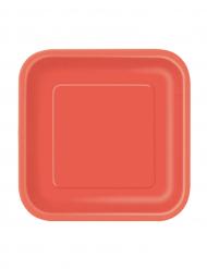 Punaiset kartonkilautaset