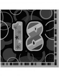 Harmaat servetit 18-vuotisjuhliin 16 kpl