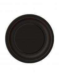 Mustat kartonkilautaset 18 cm - 20 kpl