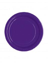 Pienet violetit pahvilautaset 18 cm 20 kpl