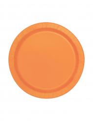 Oranssi pahvilautanen 20kpl 18cm