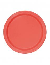 Punaiset pahvilautaset 20 kpl