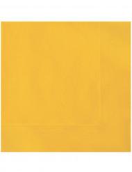 Keltaiset paperiservetit 20 kpl
