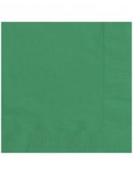Smaragdinvihreät paperilautasliinat 33 x 33 cm - 20 kpl