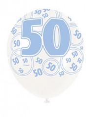 Siniset ilmapallot 6kpl 50