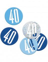 Värikkäät konfetit 40 v, 14 g