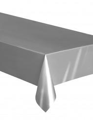 Muovinen ja hopeanvärinen pöytäliina 137 x 274 cm