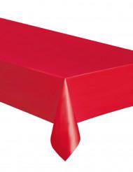 Muovinen punainen pöytäliina 137x274 cm