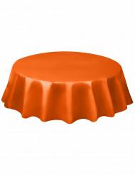 Pyöreä oranssi muovipöytäliina