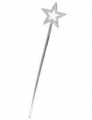 Hopeanvärinen taikasauva tähdellä