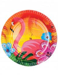Flamingo-pahvilautaset, 6 kpl