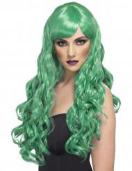 Pitkä vihreä peruukki