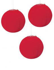 Punaiset paperilyhdyt 2kpl