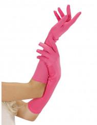 Vaaleanpunaiset hansikkaat aikuisille
