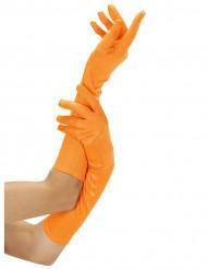 Pitkät oranssit hansikkaat aikuisille