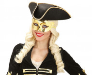Kullanvärinen venetsialainen maski aikuisille