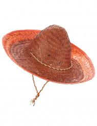 Oranssi meksikolainen sombrero-hattu aikuisille