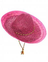 Vaaleanpunainen meksikolainen sombrero-hattu aikuisille