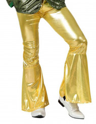 Miesten kultaiset discohousut