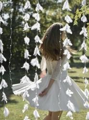 Valkoinen koristenauha höyhen