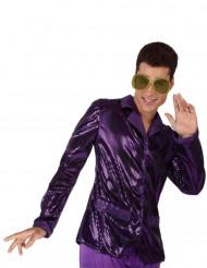 Discomiehen hohtavan violetti pikkutakki