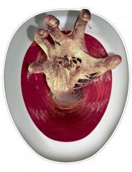 Zombien käsi pytyssä - Halloween WC -tarra