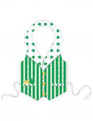 Aikuisten muovinen esiliina Leprechaun Saint-Patrick