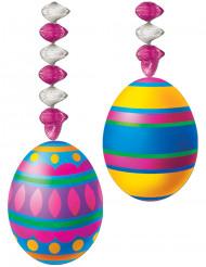 2 riippuvaa pääsiäismuna koristetta