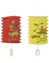Punainen ja keltainen paperilyhty