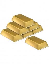Muoviset kultaharkot - 6 kpl
