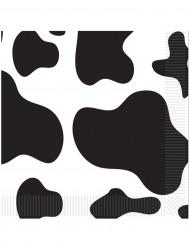 Musta-valkoläikikkäät servetit 16 kpl