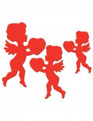 Punaiset Cupido-koristeet - 6 kpl