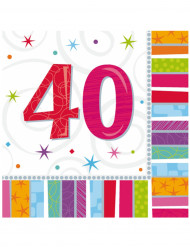 Paperiservetit 40-vuotisjuhliin