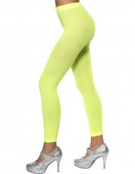 Naisten neonvihreät sukkahousut ilman kärkiosaa