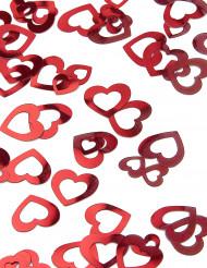 Konfetti sydän punainen