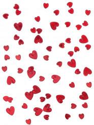 Kohokuvioiset konfetit rubiinipunaisilla sydämillä - 14 g