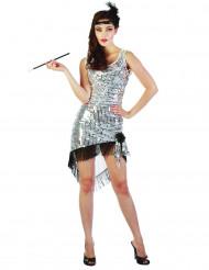 Mustavalkoinen charleston- mekko