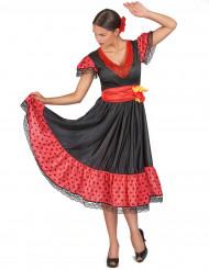 Aikuisen flamencotanssijattaren naamiaisasu