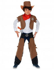 Ruskea Cowboy-asu lapsille