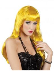 Pitkä keltainen peruukki aikuisille