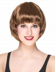 Vaaleanruskea peruukki