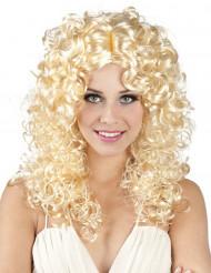 Todella kihara blondi peruukki