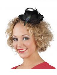 Minikokoinen musta hattu naisille