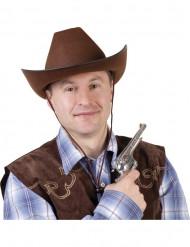 Aikuisten ruskea cowboyhattu
