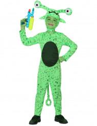 Vihreän avaruusolion naamiaisasu lapselle